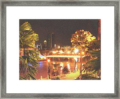 Singapore Night Framed Print by Steve Huang
