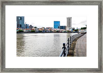 Singapore River Framed Print by Chua  ChinLeng