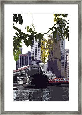 Singapore ... The Lion City  Framed Print by Juergen Weiss