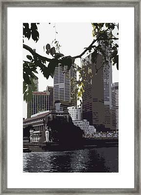 Singapore's Merlion Framed Print