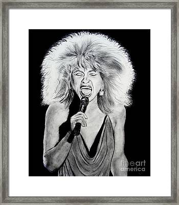 Singer And Actress Tina Turner  Framed Print by Jim Fitzpatrick