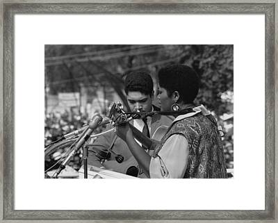 Singer Odetta At The 1963 Civil Rights Framed Print by Everett