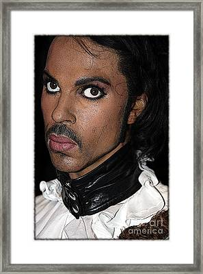 Singer Prince Cartoon Framed Print by Sophie Vigneault