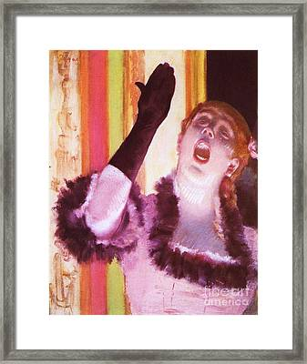 Singer With The Glove Framed Print by Pg Reproductions