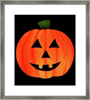 Single Smiling Jack-o'-lantern Framed Print