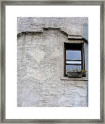 Single Window Framed Print by Maria Scarfone