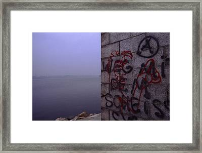 Eerie Morning Framed Print by Shaun Higson