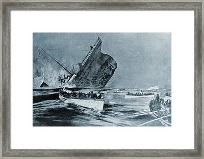 Sinking Of The Titanic Witnessed Framed Print