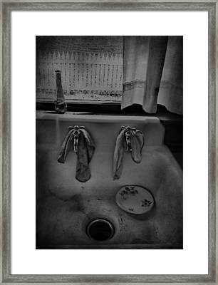 Sinking Tears Framed Print by Jerry Cordeiro
