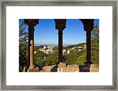 Sintra Balcony Framed Print by Carlos Caetano