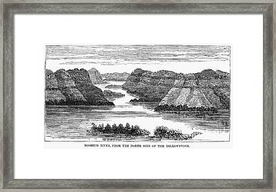 Sioux: Rosebud River Framed Print by Granger