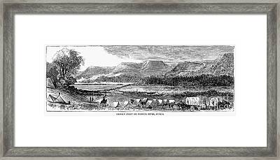 Sioux War: Tongue River Framed Print by Granger