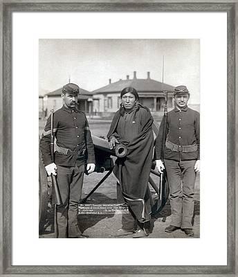Sioux Warrior, 1891 Framed Print by Granger