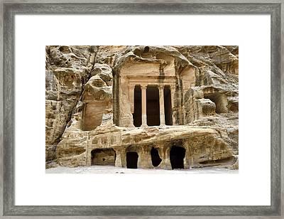 Siq Al-barid (little Petra), Jordan Framed Print by Marco Brivio
