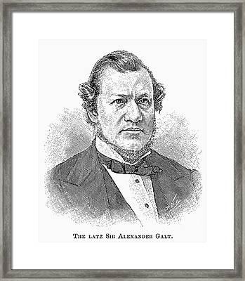 Sir Alexander Tilloch Galt Framed Print