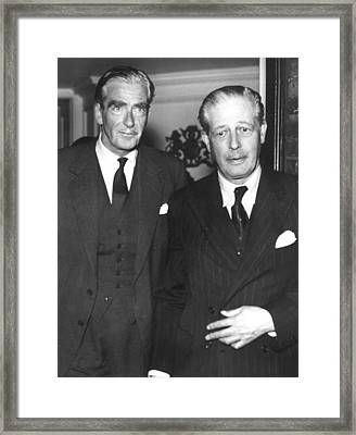 Sir Anthony Eden, British Prime Framed Print by Everett