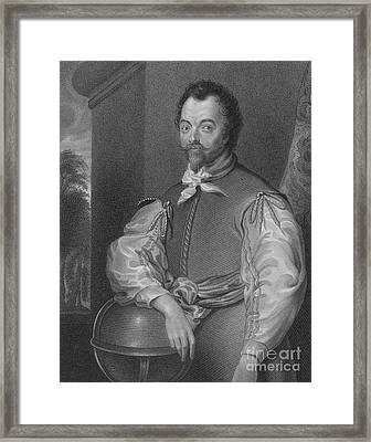 Sir Francis Drake, English Explorer Framed Print by Photo Researchers