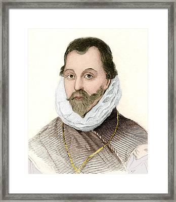 Sir Francis Drake, English Explorer Framed Print by Sheila Terry