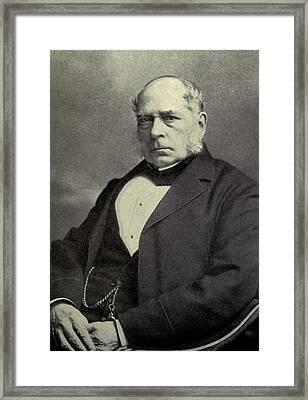 Sir Henry Bessemer 1813-1898, A British Framed Print by Everett