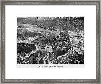 Sir Henry Morton Stanley (1841-1904). English Journalist And Explorer; Wood Engraving, 1880 Framed Print by Granger