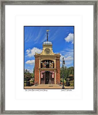 Sir John Bennett Clock Shop Framed Print by Jack Schultz