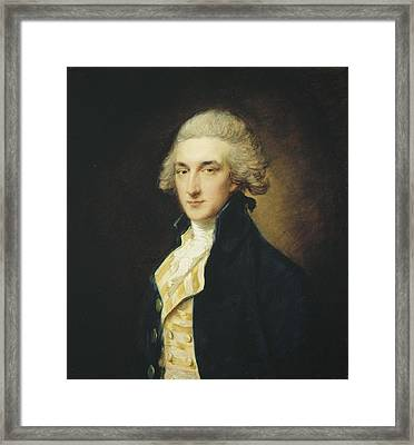 Sir John Edward Swinburne Framed Print by Thomas Gainsborough
