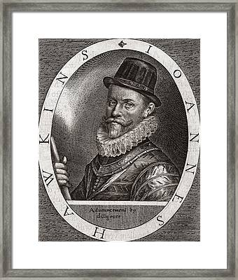 Sir John Hawkins, English Adventurer Framed Print