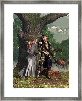 Sir Justinus The Singing Knight Framed Print by Daniel Eskridge
