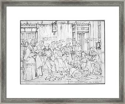 Sir Thomas More & Family Framed Print