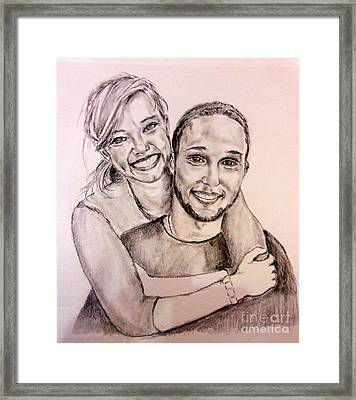 Sister And Brother Framed Print by Amanda Dinan