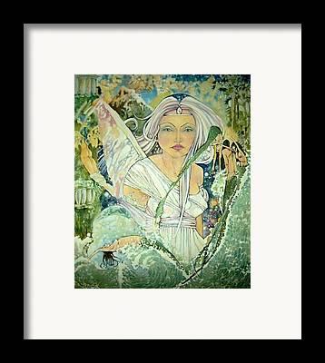 Angel Mermaids Ocean Drawings Framed Prints