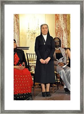 Sister Marie Claude Naddaf Of Syria Framed Print