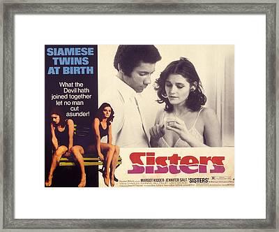 Sisters, Lisle Wilson, Margot Kidder Framed Print