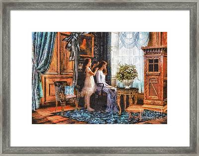 Sisters Framed Print by Mo T