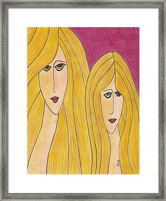 Sisters Framed Print by Ray Ratzlaff