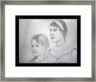 Sisters Framed Print by Suneel Jain
