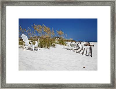 Sit And Enjoy Framed Print by Toni Hopper
