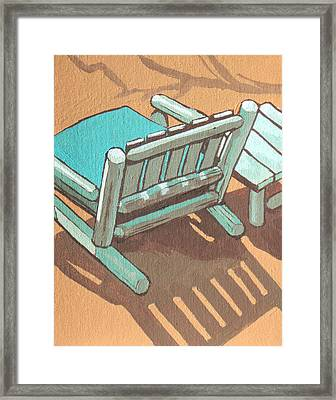 Sit Back And Relax Framed Print by Sandy Tracey