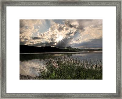 Sit Back...relax Framed Print by Cindy Haggerty
