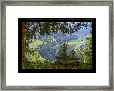 Sit Down For A While Framed Print by Matthew Green