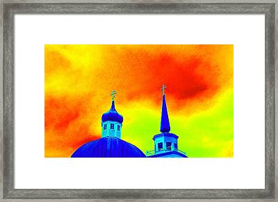 Sitka Russian Orthodox 8 Framed Print by Randall Weidner