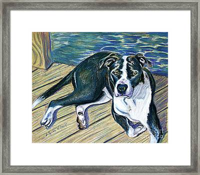 Framed Print featuring the painting Sittin' On The Dock by D Renee Wilson