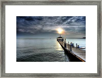 Sittin On The Dock Of The Bay Framed Print by Edward Kreis
