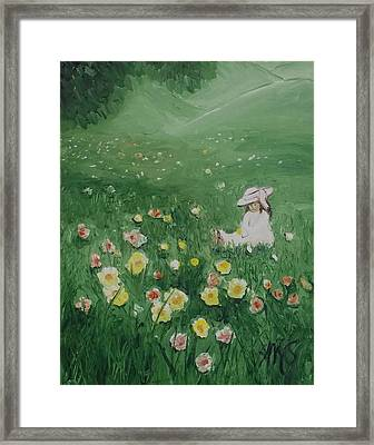 Sitting Framed Print by Angela Stout