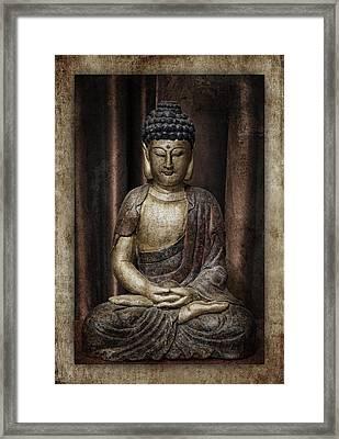 Sitting Buddha Framed Print by Carol Leigh