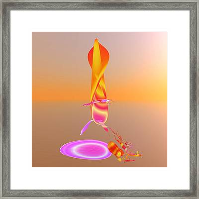 Sitting By The Fire Framed Print by Betsy Knapp