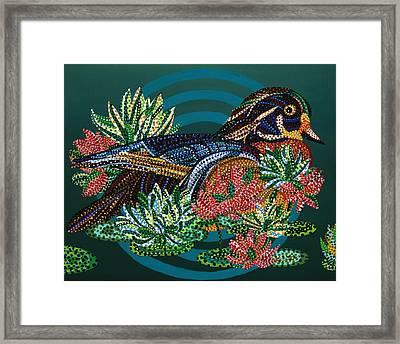 Sitting Duck Framed Print by Erika Pochybova