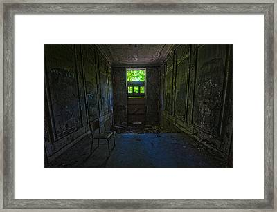 Sitting In Darkness Framed Print