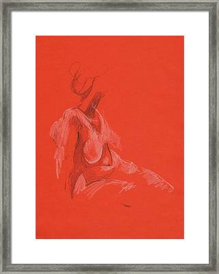 Sitting Model 1999 Framed Print