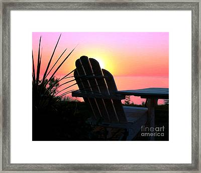 Sitting On The Shore Framed Print